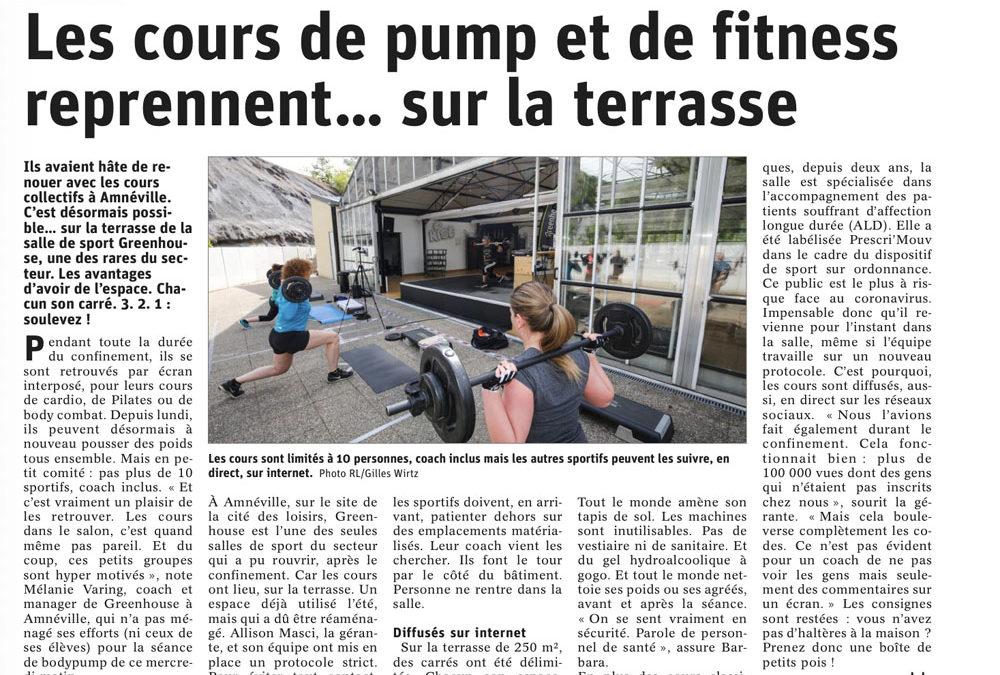 Les cours de pump et de fitness reprennent